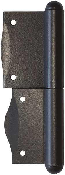 Fischband für Fenster, Fensterfitsche, rechts in Eisen verzinkt und matt schwarz lackiert