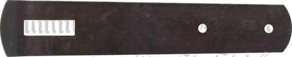 Schrankfeder antik, alt, Eisen gestanzt und gehärtet, gebläut, 120 mm