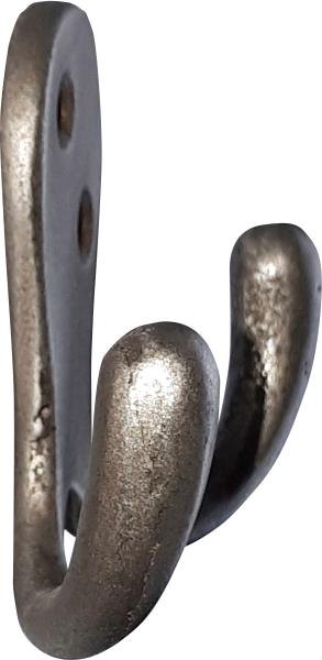 Kleiderhaken Gusseisen, doppelter antik Wandhaken, antike Garderobenhaken Eisen altgrau Bild 2