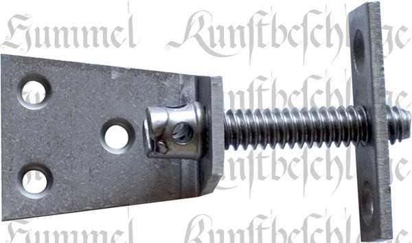 Schrankverbindung, Schrankverbinder einfach, Winkel, Eisen blank