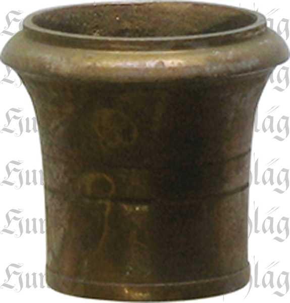 Fußeinfassung rund, Möbelschuh antik, Messing patiniert 19mm Innendurchmesser
