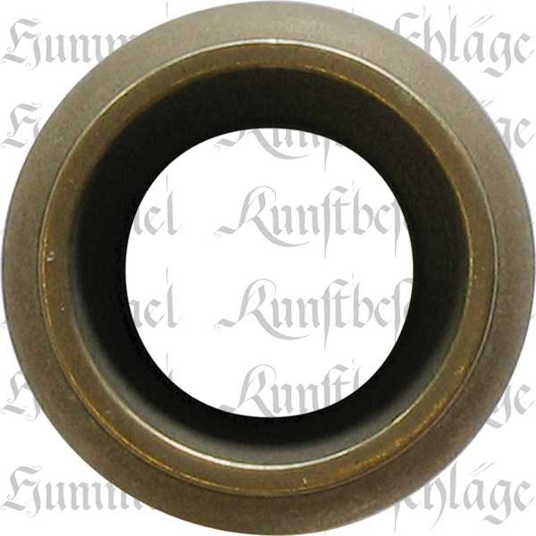 Fußeinfassung rund, Möbelschuh antik, Messing patiniert 19mm Innendurchmesser Bild 2