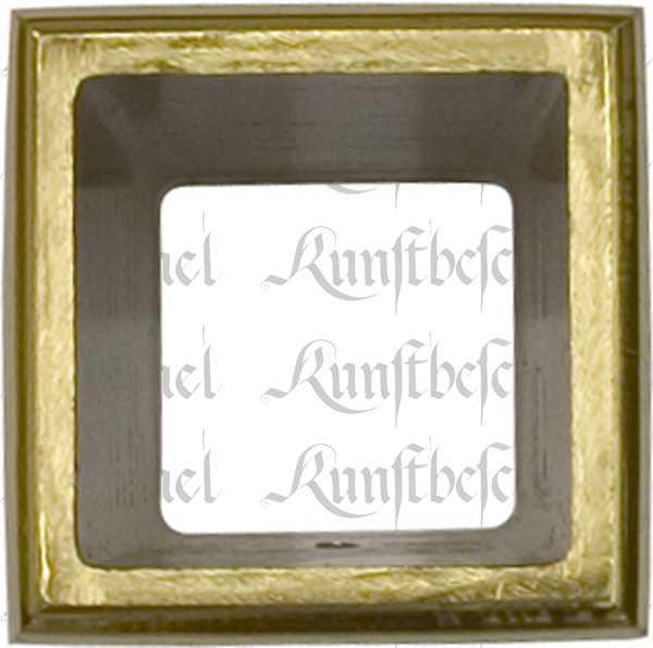 Fußeinfassung Möbelschuh antik, Messing poliert unlackiert, Vierkant innen 17mm. Aus Messing gegossen. Bild 2