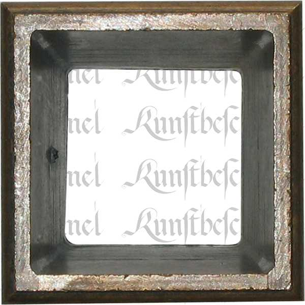 Fußeinfassung Möbelschuh antik, Messing patiniert, Vierkant innen 17mm. Aus Messing gegossen. Bild 2