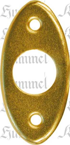 Kugelverschluss Messing roh, Kugelschnapper alt. Aus Blech gestanzt und geprägt. Bild 2