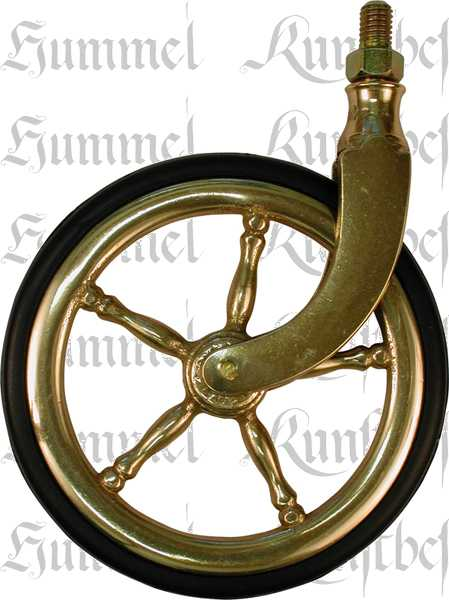 Teewagenrolle Teewagen Rad In Messing Poliert Unlackiert Mit