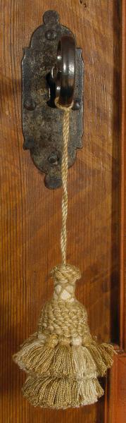 Schlüsselquaste, goldbeige, Länge: 21cm, antike, alte Quaste, Quoddel, Quaddel
