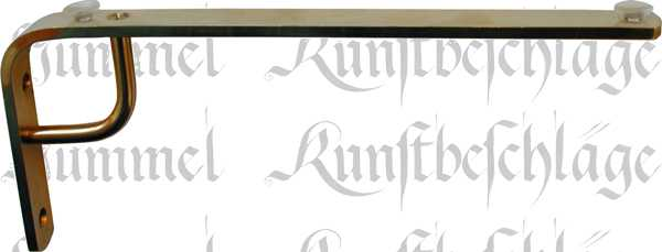 Regalträger Konsole, Messing poliert unlackiert, 150mm, Metallkonsole antik, alt