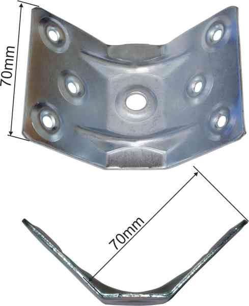 Tischfußverbinder, Eisen verzinkt. Aus Blech gestanzt und geprägt. Bild 3