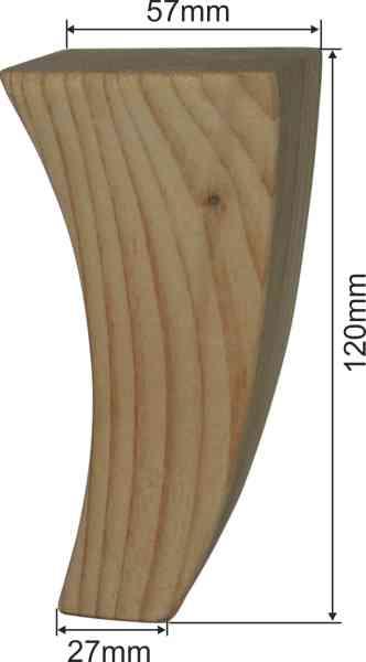 Holzfuß antik, Möbelfuß antik, Erle, Möbelfuss Holz Bild 3
