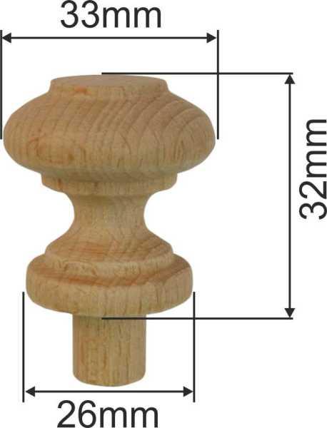 holzknopf antik alt holz knopf aus nussbaum gedrechselt 33mm 6022 n. Black Bedroom Furniture Sets. Home Design Ideas