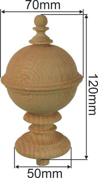 Holzdrehteil, Fichte, Holzzierteil antik, Antiquitäten & Kunst Restaurierungsbedarf Holzwaren Bild 3