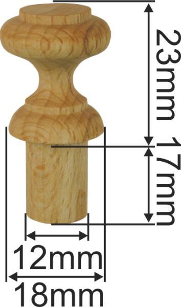 Holzknopf alt aus Fichte gedrechselt, Ø 21mm, nostalgisch Bild 3