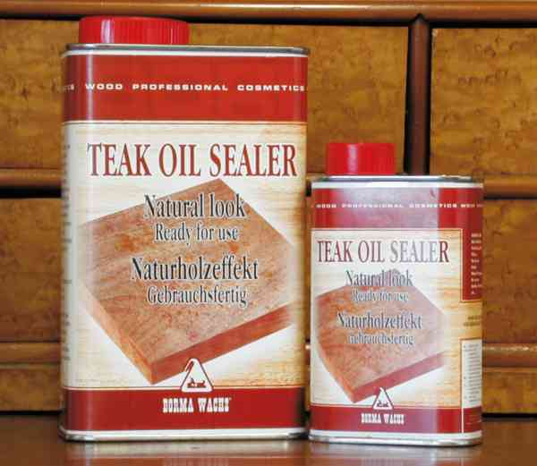 Holzöl Möbel, Borma Teaköl-Sealer, 1 Liter, farblos, transparent natur