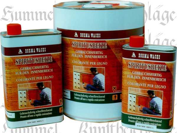 Spiritusbeize, Holzbeize Farbton: Nussbaum hell 1 Liter, Holz Beize antik