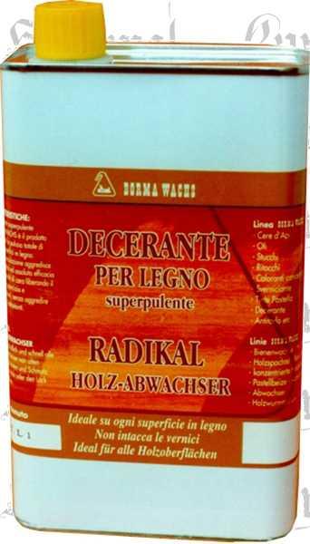 Radikal Holz Abwachser, Entwachser 1 Liter, super Entferner allerlei Wachse