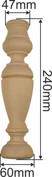 Säule antik aus Birke, 24cm hoch, Holzsäule gedrechselt, Holzsäulen alt, antik Bild 3