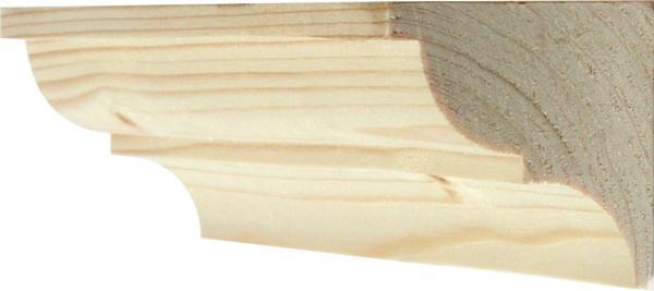 Holzprofilleiste, Holzleiste antik, Holzzierleiste alt, Fichte, aus Fichtenholz, 2,4m, 45x45mm