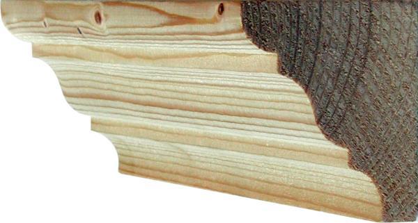 holzprofilleiste gefr ste holzleiste antik holzzierleiste alt fichte 2 4m 55x50mm 6266. Black Bedroom Furniture Sets. Home Design Ideas
