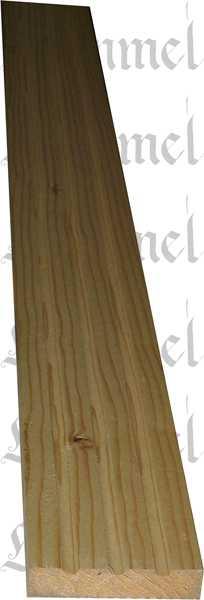 Kannelierte Holzleiste, Holzleiste antik, 2,4m, aus Fichte
