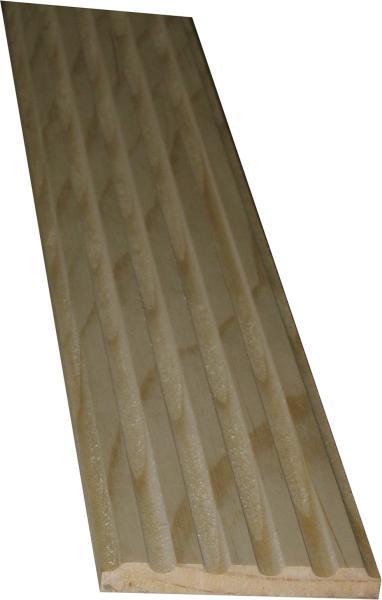 Kannelierte Holzleiste, Holzleiste antik, 1,8m, aus Fichte