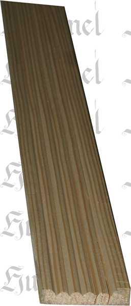 Kannelierte Holzleisten, Holzleiste antik, 1,8m, aus Fichte