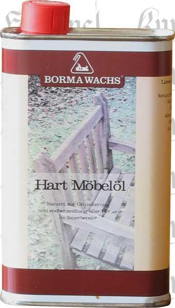 Hart-Möbelöl farblos, 1 Liter, super Holzöl für alte und neue Möbel, Hartmöbelöl, Hart Möbelöl