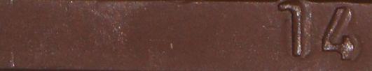 Borma Hartwachsstange, einzeln, 22g, Nußbaum antik, auch für Laminat Reparatur geeignet