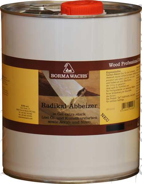 Radikal-Abbeizer von Borma, 4 Liter, farblos, extrem kräftig in der Wirksamkeit, Abbeizmittel für Holz und Lacke
