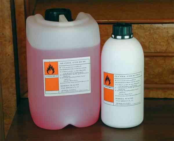 Borma Ethylalkohol 99,9%, 1 Liter, Polieralkohol Spiritus Verdünner