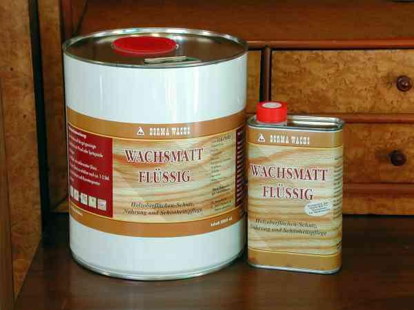 Flüssigwachs MATT farblos von Borma, 500ml, Matt Wachs, Mattwachs, Holzwachs matt, Möbelwachs matt