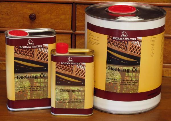Decköl farblos für außen, 1 Liter, Holzöl für Außenbereich