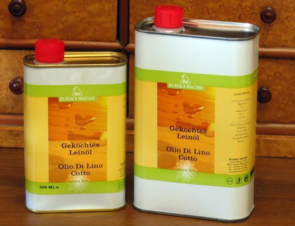 Leinöl gekocht für Holz, farblos, 1 Liter, Holzöl Bio, 100% natürlich