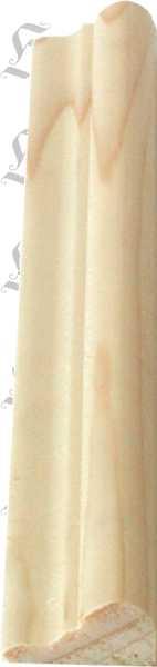 Holzprofilleiste, Holzleiste antik, Fichte, 2,4m, 18x8mm