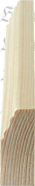 Holzprofilleiste, Holzleiste antik, Fichte, 2,4m, 45x18mm