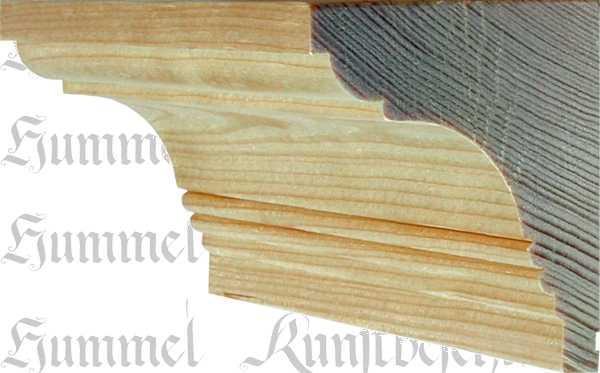 Holzprofilleiste, Holzleiste antik, Fichte, 2,4m, 70x62mm