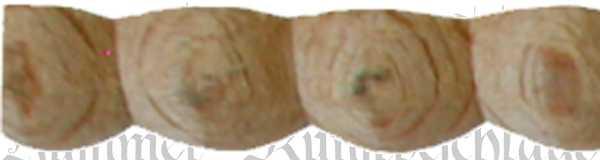 Perlstab, alte Holz Schnitzleisten, Holzleiste antik, Perlleiste, 62cm, Holzzierteil antik aus Buche
