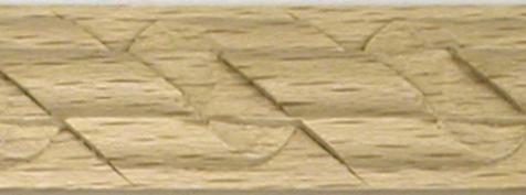 Holzleiste, Buche, antikes Holzzierteil