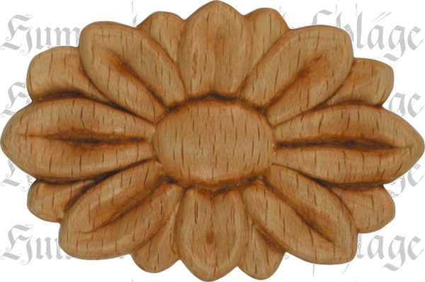 holz rosette zierrosette aus buche pressholz holzzierteil antik 6782. Black Bedroom Furniture Sets. Home Design Ideas
