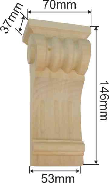 Kapitell Holz, Linde geschnitzt. Holzzierteil antik, Holzkapitell, Kapitelle Holz Bild 3