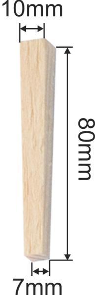 Vierkant Holznägel antik, Holznägel alt, Holznagel, Birke konisch, 50 Stück 10x10x80mm Bild 3