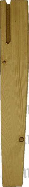 Tischfuß antik gefräst, Tischbein Holz konisch gefräst, kurz, Fichte, Tischbeine Massivholz
