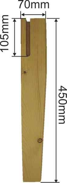 Tischfuß antik gefräst, Tischbein Holz konisch gefräst, kurz, Fichte, Tischbeine Massivholz Bild 3