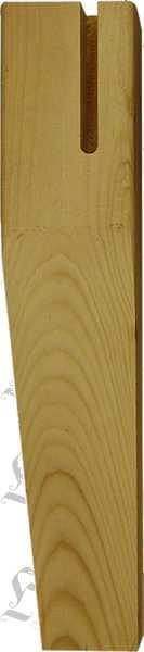 Tischfuß antik, kurz aus Weichholz, Massivholz