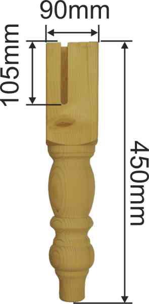 tischfu antik gedrechselt tischbein holz kurz fichte tischbeine massivholz 6903. Black Bedroom Furniture Sets. Home Design Ideas