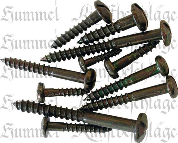Zierkopfschrauben Eisen schwarz 2,4x13mm, 25 Stück, Zierschraube für Holz, Zierschrauben