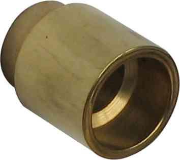 Drückerhalsverlängerung um 20mm, Messing, Oberfläche passend zu gewähltem Drücker