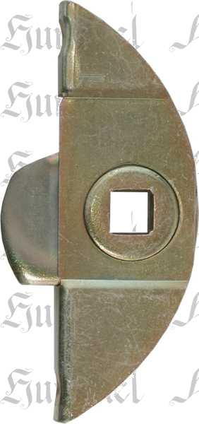 Einsteckeinreiber mit Schliesszunge und Zubehör, Eisen verzinkt, Dornmaß 13mm
