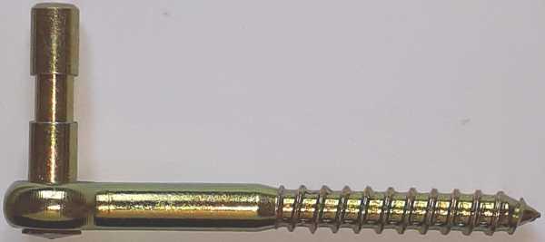 Fensterladen Schraubkloben, Einschraubkloben, Fensterladen Haken, Fensterladenkloben 10mm, Eisen gelb verzinkt