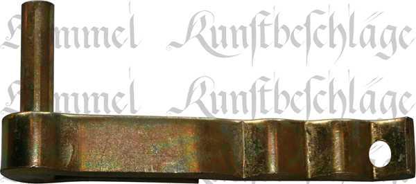 Kloben zum Einmauern, Mauerkloben, Fensterladen Haken, Fensterladenkloben, 10mm, Eisen gelb verzinkt